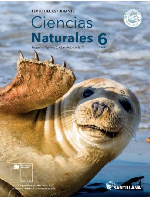 Libro de Ciencias Naturales 6 Basico para  2021