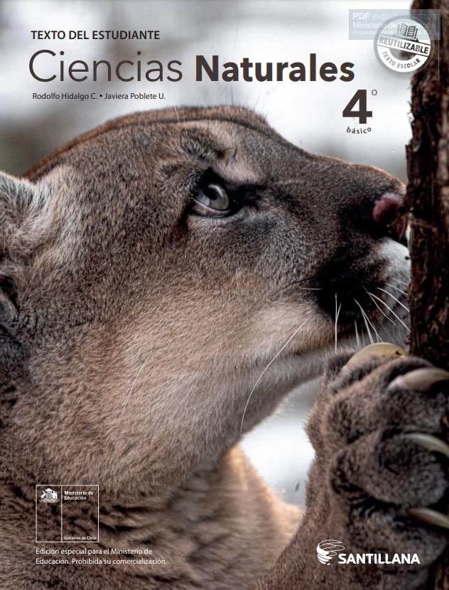 Libro de Ciencias Naturales de 4 Basico  para 2020 / 2021