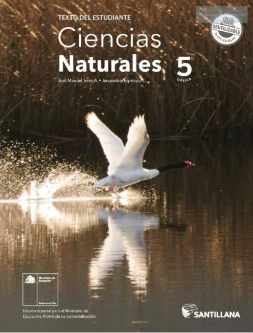 Libro de Ciencias Naturales de 5 Basico  para 021