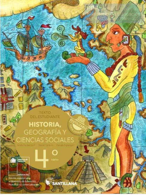 Libro de Historia y Geografia 4 Basico de 2020 en PDF
