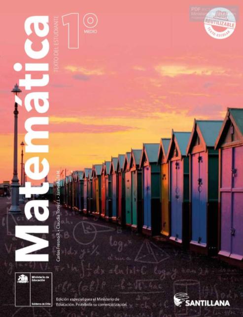 Libro de Matematicas 1 Medio para 2021 en PDF