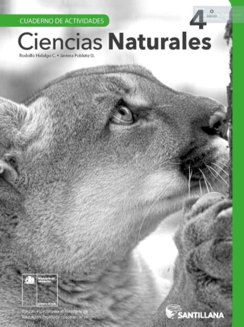 Cuadernillo de Ciencias Naturales 4 Cuarto Basico 2020 2021